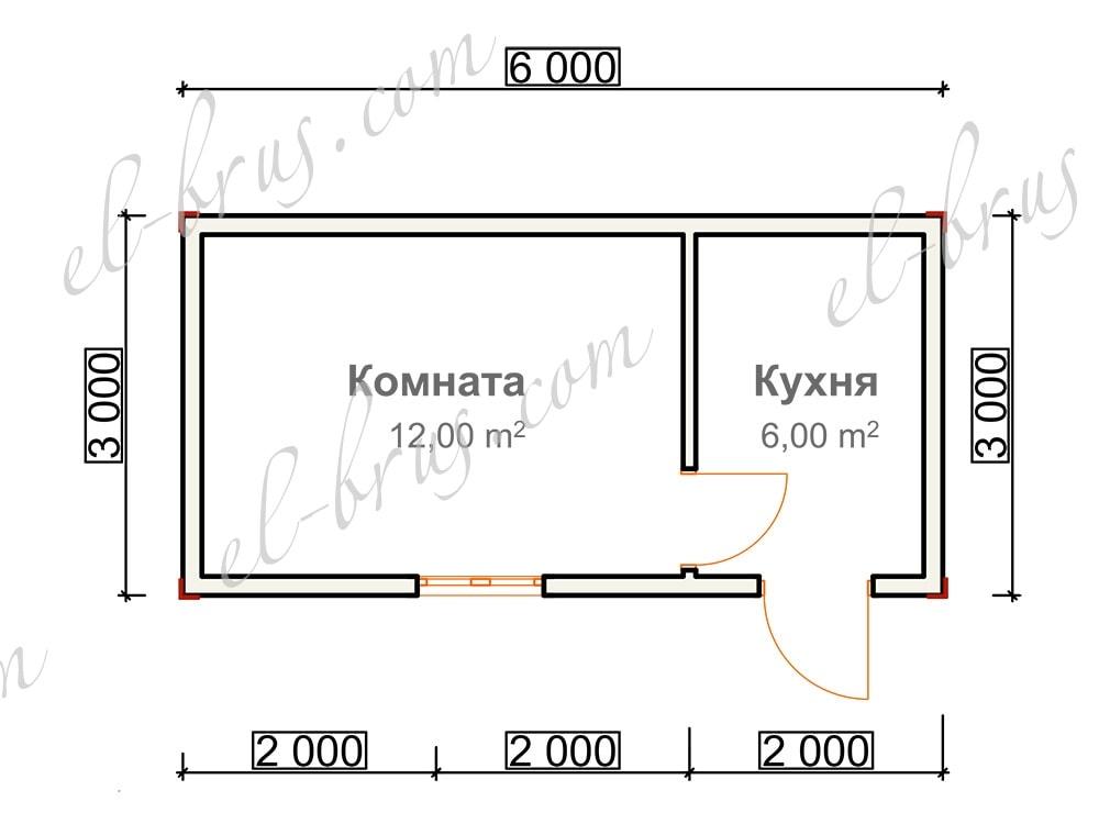 Дом из бруса 6х3 Липецк