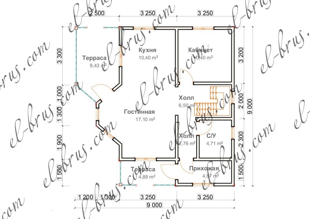 1 этаж 2-ой вариант планировки