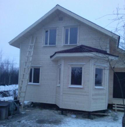 дом каркасный с эркером