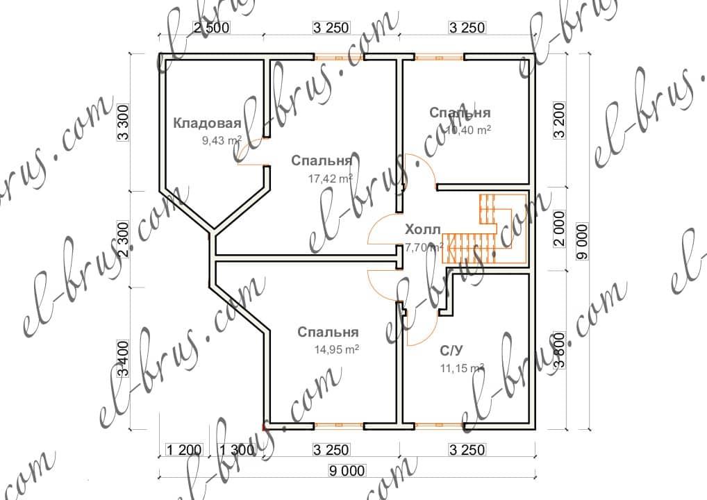 2 этаж 2-ой вариант планировки